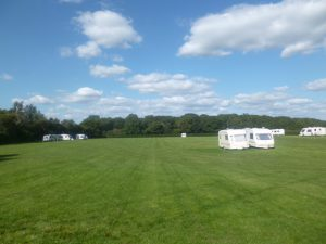 caravans on the campsite