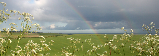 rainbow over the Downs